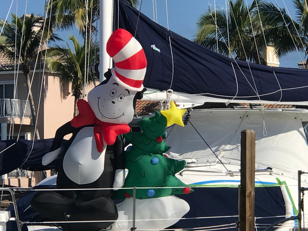Xmas boat decorations