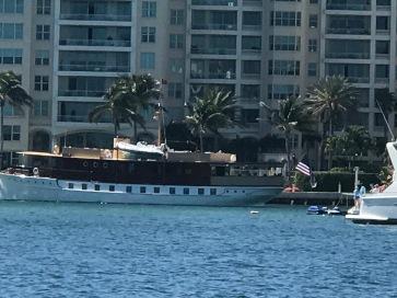 Huge Trumpy Yacht