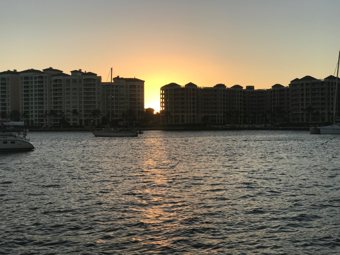 sunset between