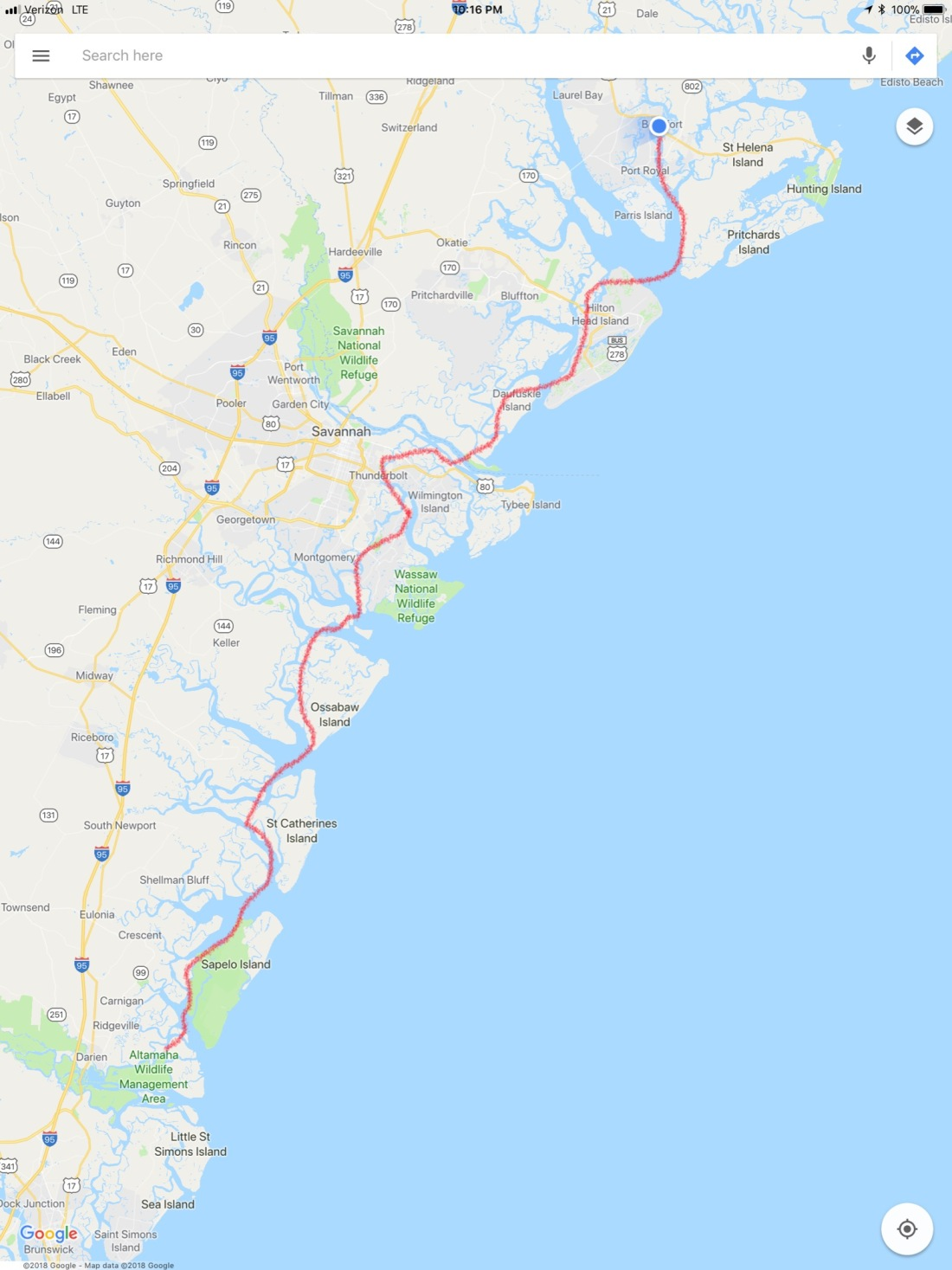 Route 6 New River - Beaufort
