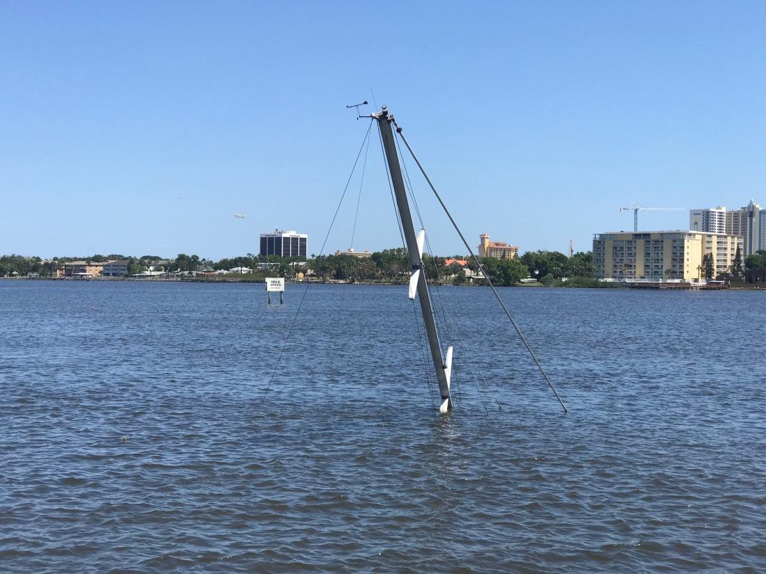 Sunken Sailboat Daytona