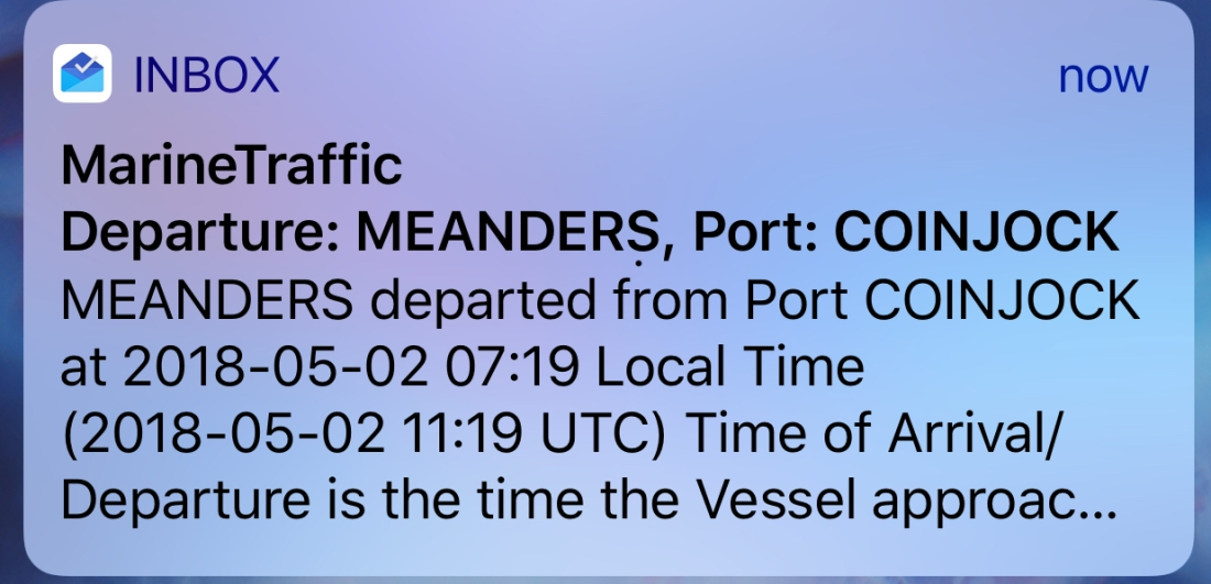 Meanders Marine Traffic