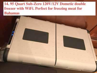 New 95 Quart Sub-Zero 120V/12V Freezer
