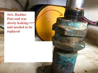 Rudder Post Resealed