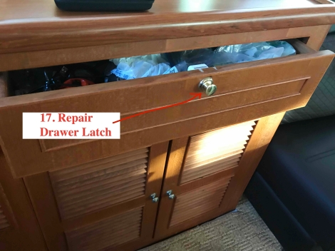 Repaired Drawer Latch