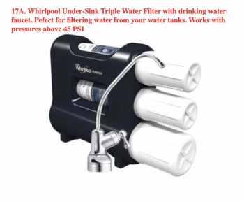 Under-Sink Triple Water Filter