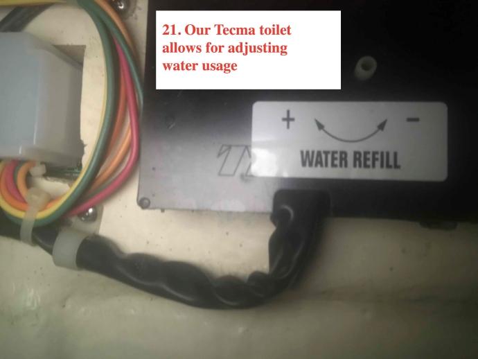 Adjustable Fresh Water Usage