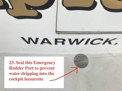 Seal this Emergency Rudder Port