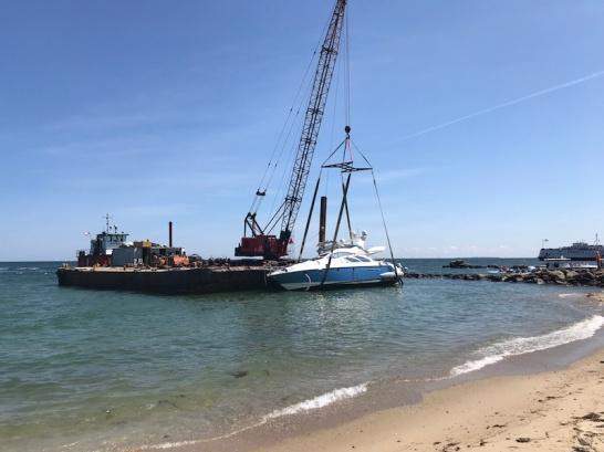 Craned onto Barge