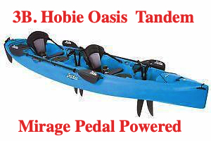 Hobie Oasis with Mirage Pedal Drive